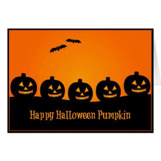 Citrouille heureux de Halloween - carte de