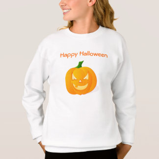 Citrouille orange de Halloween Sweatshirt