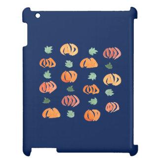 Citrouilles avec le coque ipad brillant de feuille