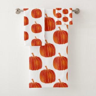Citrouilles d'automne mignons brillants oranges de