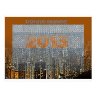 city bonne année 2013 carte postale