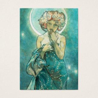 Clair de lune Clair De Lune Art Nouveau d'Alphonse Cartes De Visite