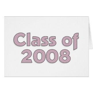 Classe de 2008 - carte pourpre