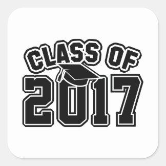 Classe de 2017 sticker carré