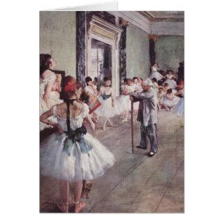 Classe de ballet - Edgar Degas Carte
