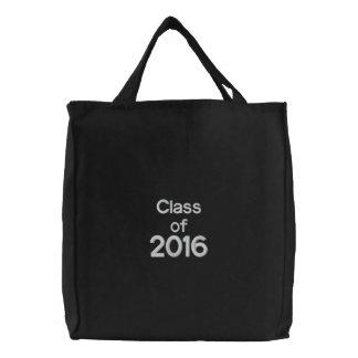 Classe de blanc de noir de sac brodé 2016 par