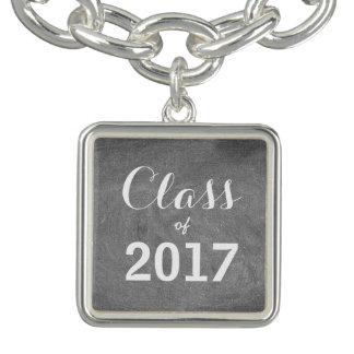 Classe du blanc 2017 de noir de typographie de bracelet