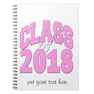 Classe du rose 2018 carnet à spirale
