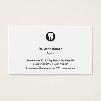 Classique classique du dentiste   cartes de visite