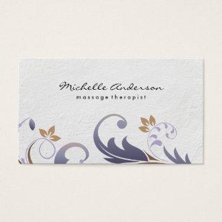 Classique floral/blanc cartes de visite