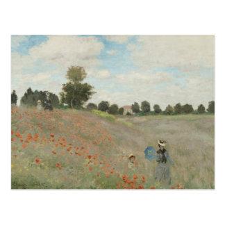 Claude Monet - het Gebied van de Papaver Briefkaart