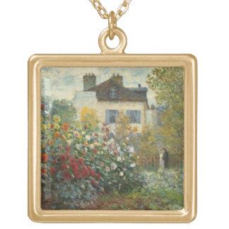 Claude Monet   le jardin de l'artiste à Argenteuil Collier Plaqué Or