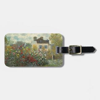 Claude Monet   le jardin de l'artiste à Argenteuil Étiquette À Bagage