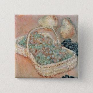 Claude Monet | le panier des raisins, 1884 Badge Carré 5 Cm
