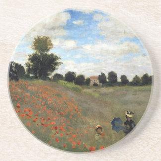 Claude Monet - Les Coquelicots Dessous De Verre
