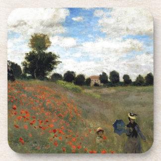 Claude Monet - Les Coquelicots Dessous-de-verre