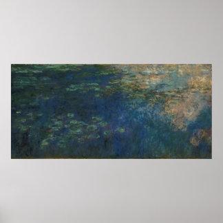 Claude Monet - réflexions des nuages sur l'eau