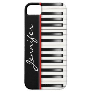 Clavier de piano avec le nom coques iPhone 5