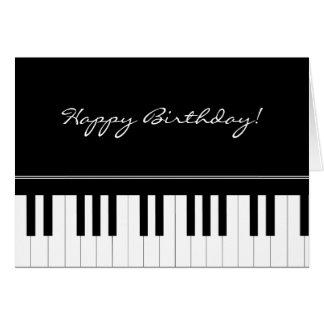 Clavier de piano carte de vœux