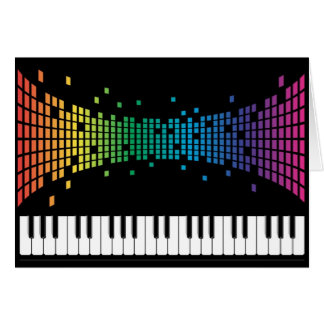 Clavier instrumental de piano de musique carte