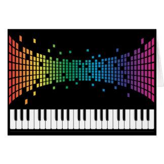 Clavier instrumental de piano de musique carte de vœux
