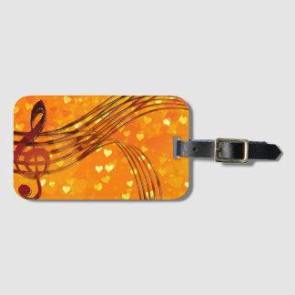 Clé de violon étiquette à bagage