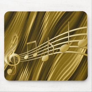 Clé d'or de violon tapis de souris