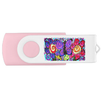 Clé USB Amusement de fleurs de papillon