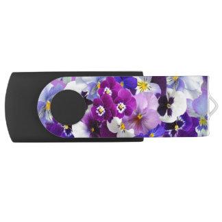 Clé USB Belle commande d'instantané d'USB de fleurs de