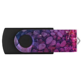 Clé USB Cailloux d'arc-en-ciel