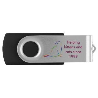 Clé USB Combiné : logo/silhouette d'arc-en-ciel