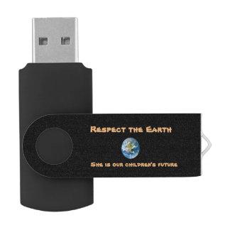 Clé USB Commande d'instantané d'USB de la terre de planète