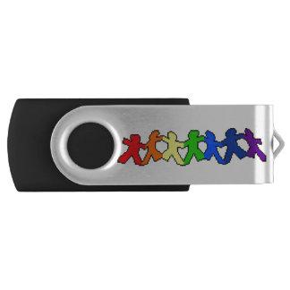 Clé USB Commande d'USB de poupées de papier d'arc-en-ciel
