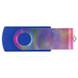 Clé USB Commande instantanée colorée de ciel d'arc-en-ciel
