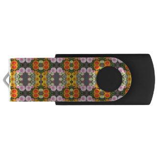 Clé USB Commande lumineuse d'instantané d'USB de fleurs