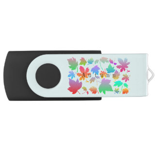 Clé USB Feuille d'automne coloré
