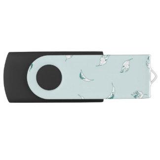 Clé USB Feuille vert clair et blanc