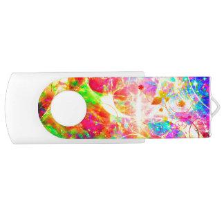 Clé USB Fleurs abstraites colorées mignonnes de remous