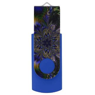Clé USB fractale impressionnante de fleur