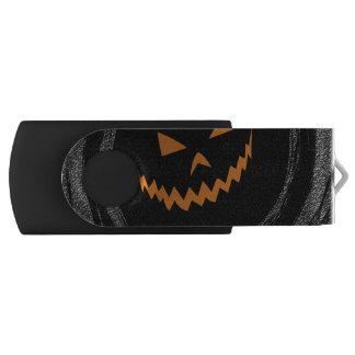 Clé USB Halloween Jack rougeoyant O'Lantern dans un remous