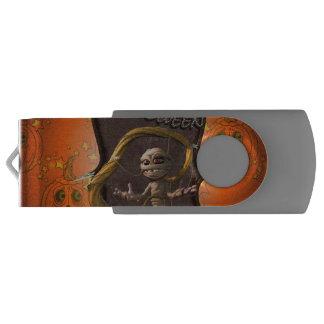 Clé USB Halloween, maman drôle avec le citrouille