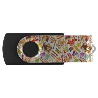 Clé USB Illustration de motif de joyeux anniversaire