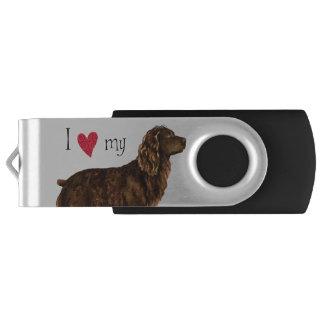 Clé USB J'aime mon épagneul de Boykin