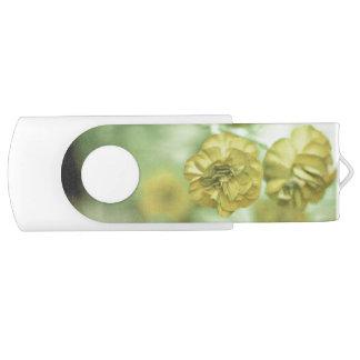 Clé USB Jaune minuscule de fleurs