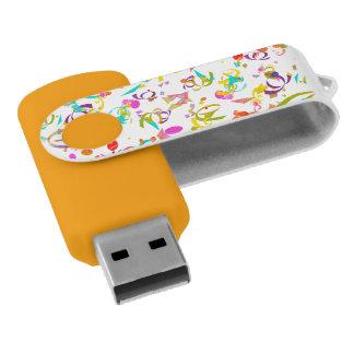 Clé USB Lancer coloré de confettis