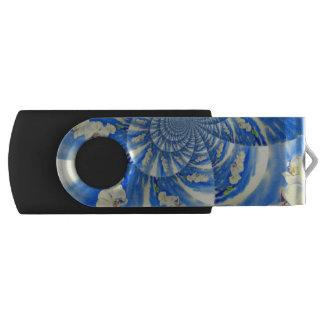 Clé USB Mandala de brise d'orchidée