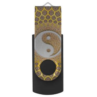 Clé USB Mandala jaune de Ying Yang