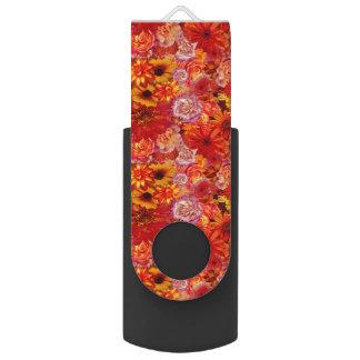 Clé USB Marguerites d'un rouge ardent riches de bouquet