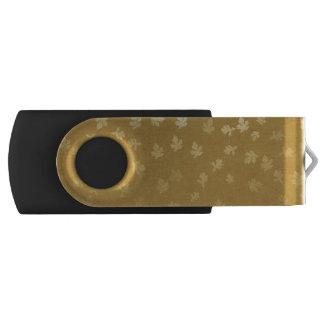 Clé USB Motif de feuille d'or d'automne