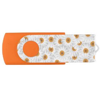 Clé USB Motif de fleur blanc de camomille